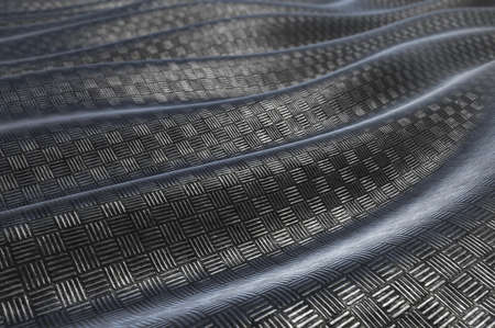 steel structure: Metallic pattern texture abstract soft curve background. 3D rendering