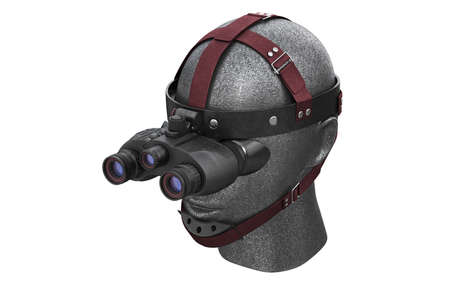 tactical: Night vision tactical battle advantages. 3D rendering Stock Photo