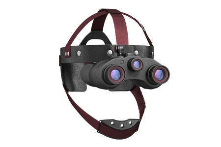 Night vision tactical goggles binoculars with lens. 3D rendering Stock Photo