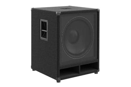 Speaker audio sound box column. 3D rendering