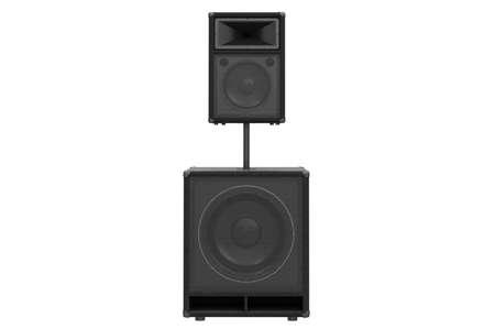 heavy metal: Speaker audio system heavy metal, front view. 3D rendering