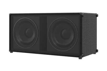 Speaker audio loud sound powerful stereo. 3D rendering