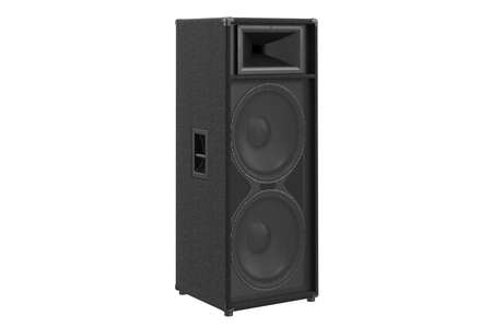 heavy: Speaker audio loud bass heavy melody. 3D rendering Stock Photo