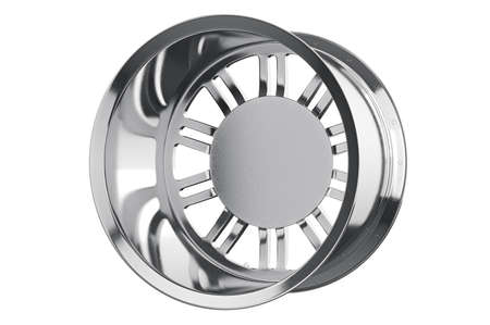 alloy wheel: Rim wheel alloy chrome disk. 3D rendering