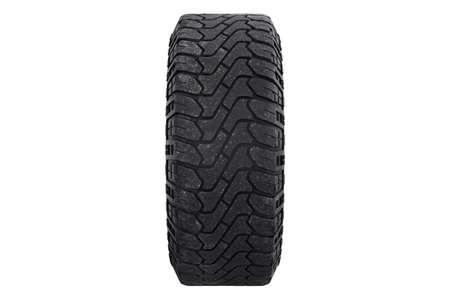 alloy: Car wheel black rubber, side view. 3D rendering