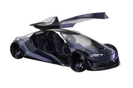 Car concept futuristic transport elegant design. 3D rendering