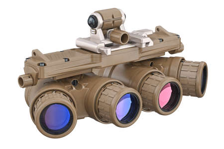 Night military goggles optical devise. 3D rendering Stock Photo