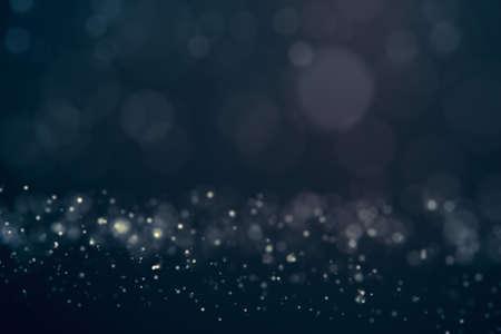 Glitter lights abstract background. Defocused bokeh dark illustration