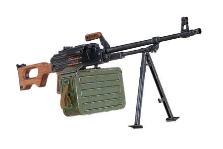 Gun machine machinegun war equipment. 3D rendering