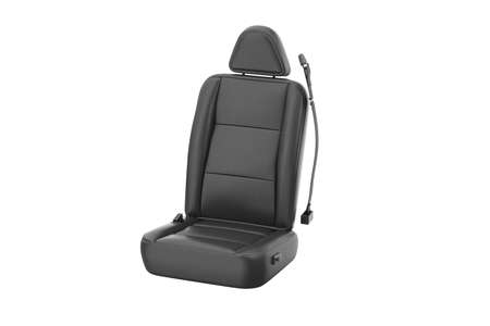 Car seat comfortable black leather. 3D rendering
