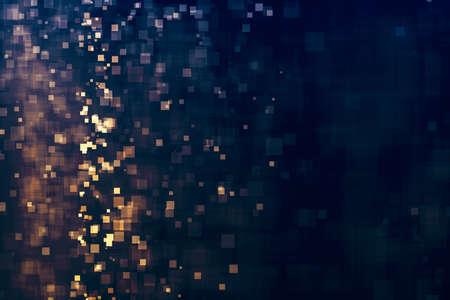 Glitter lights abstract magic background. Defocused bokeh dark. Illustration