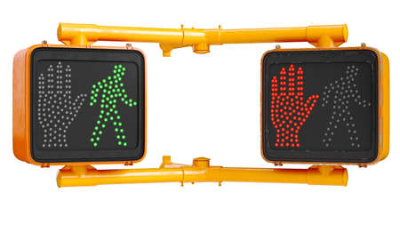 Traffic sign light urban, isolated background. 3D rendering