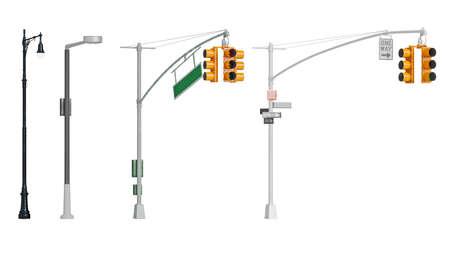 Traffic light yellow sign stoplight pillar. 3D rendering