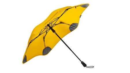 Umbrella parasol open modern yellow. 3D rendering Reklamní fotografie