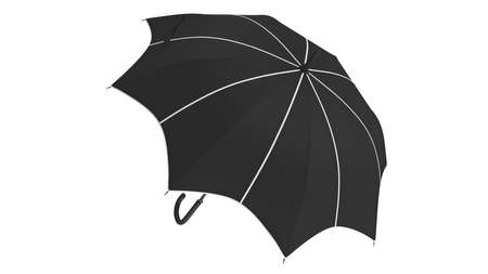 Umbrella parasol classic open with white inserts. 3D rendering Stok Fotoğraf