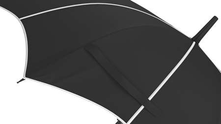 Umbrella parasol classic open with white inserts. 3D rendering Imagens