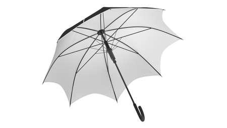 Umbrella parasol classic open with white bottom. 3D rendering Stok Fotoğraf