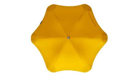 Umbrella parasol open modern yellow, top view. 3D rendering