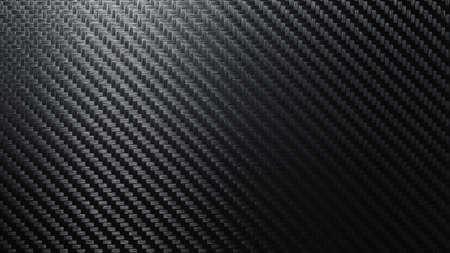 Carbon fiber texture pattern background. Dark with lighting. 3D rendering