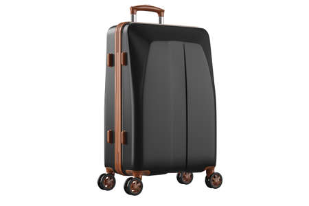 Baggage suitcase travel. 3D isolated white background
