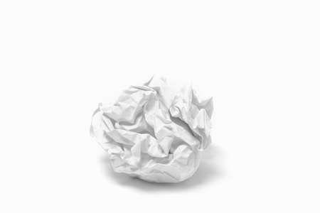 wastrel: crumpled paper ball