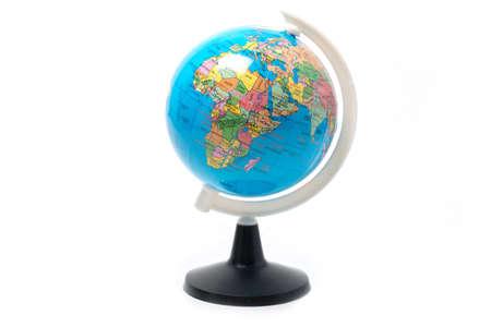 Globe isolated on white Stock fotó
