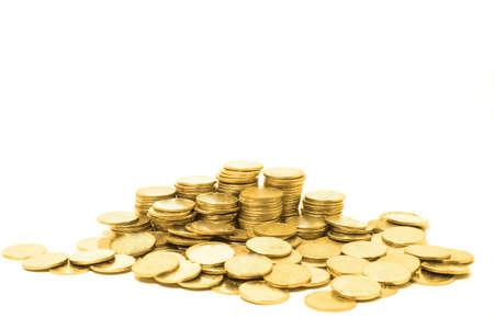 gold coins: golden coins Stock Photo