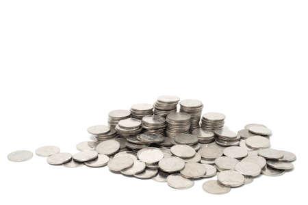 pennie: Money coin thai bath Stock Photo
