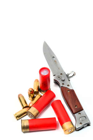 fusil de chasse: couteau militaire avec fusil balle