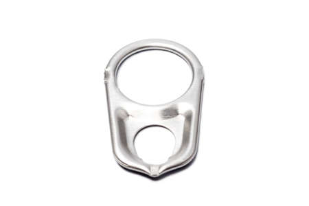 ring pull: Metal ring pull isolated on white background