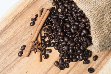 black coffee set on background