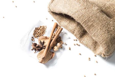 seasoning: seasoning on white background Stock Photo