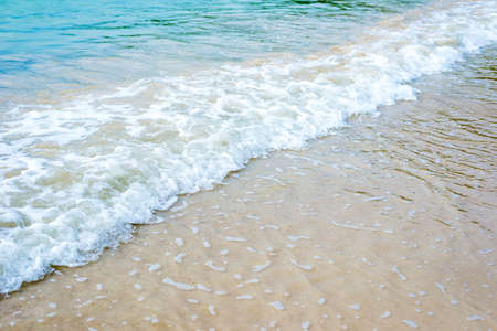 sand beach with wave for background