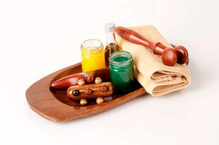 Set devices massage Wood.