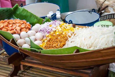 Recipe Pad Thai .(Fried Rice Sticks ,stir-fried Thai style small rice noodles, Thai fried noodle )