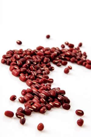 close up food: azuki beans , red beans