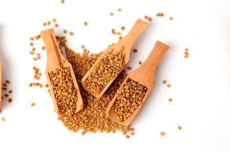Fenugreek seeds spices. Stock Photo