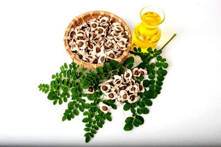Moringa Oil and seeds.