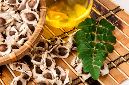 Moringa Oil and seeds.