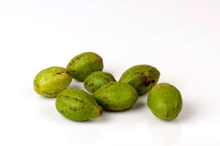 Chebulic Myrobalans, Myrolan Wood (Terminalia chebula Retz.)Fruit. Stok Fotoğraf - 85499612