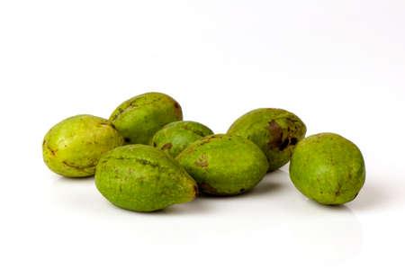 Chebulic Myrobalans, Myrolan Wood (Terminalia chebula Retz.)Fruit. Stok Fotoğraf - 85499587