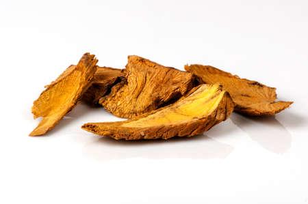 Thai dried herb and medicinal plant, Coscinium usitatum(Goetgh.) Stock Photo