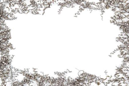 a frame of metal shavings Stock Photo