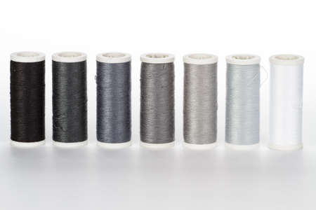 spindles: yarn spindles black to white Stock Photo