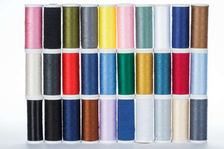 spindles: yarn spindles in different colours