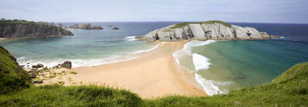 Cantabria coastline Covachos beach Spain  photo