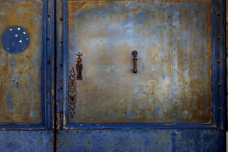 Rusty metal door Narbonne France  photo