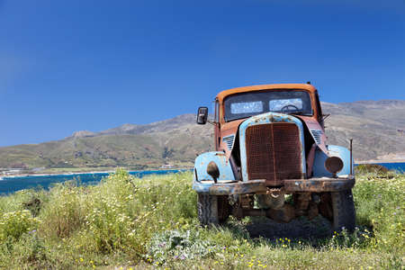 Old Truck, worn out and rusty Crete,Greece  photo