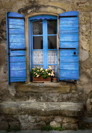 Blue window Provence France  photo