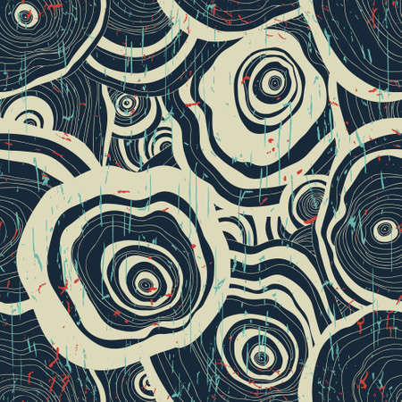 Wood texture. Vector seamless pattern. Grunge effect is on a separate layer
